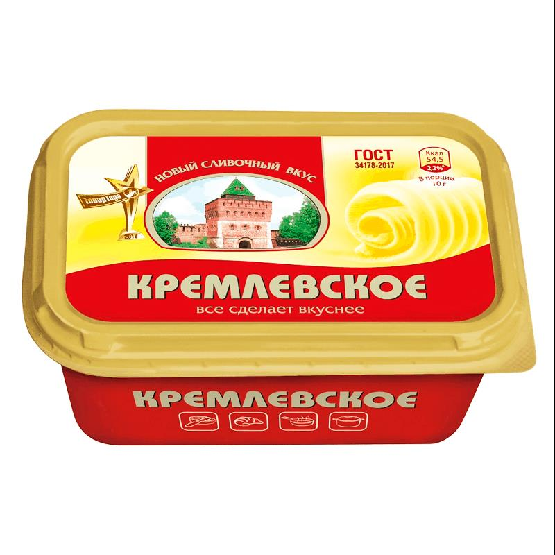 Фото 13 - СПРЕД КРЕМЛЕВСКОЕ РАСТИТЕЛЬНО-ЖИРОВОЙ 450ГР.