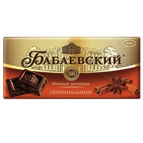 Фото 1 - ШОКОЛАД БАБАЕВСКИЙ ОРИГИНАЛЬНЫЙ 100Г.