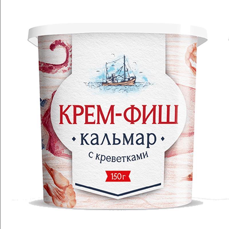 Фото 25 - ПАСТА ИЗ МОРЕПРОДУКТОВ КРЕМ-ФИШ КАЛЬМАР 150 ГР.
