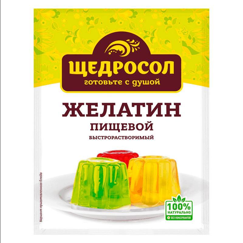 Фото 23 - ЖЕЛАТИН ПИЩЕВОЙ ЩЕДРОСОЛ 10 ГР.