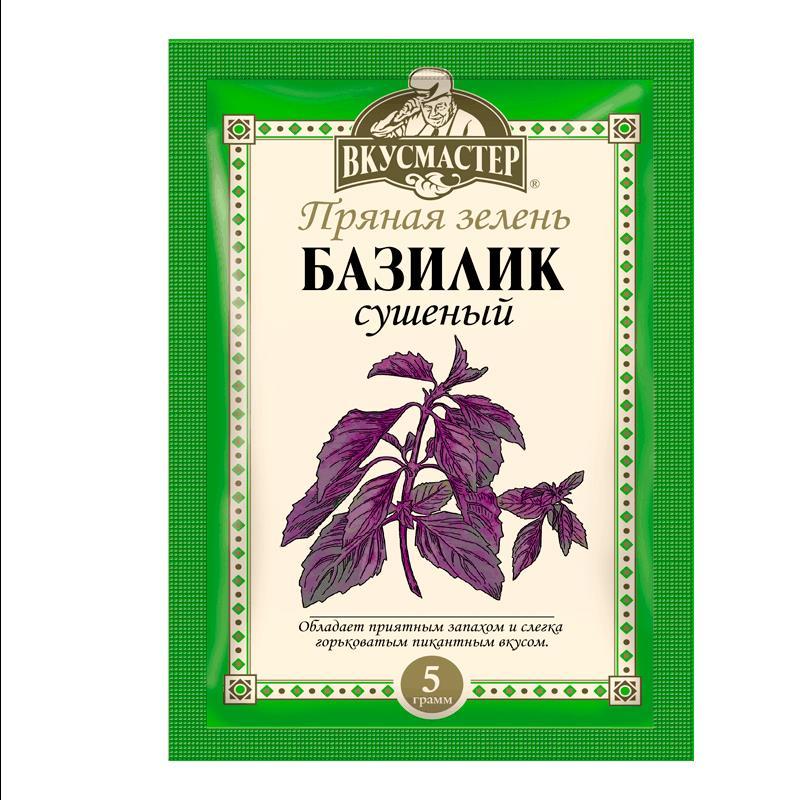 Фото 35 - БАЗИЛИК СУШЕНЫЙ ВКУСМАСТЕР 5 ГР.