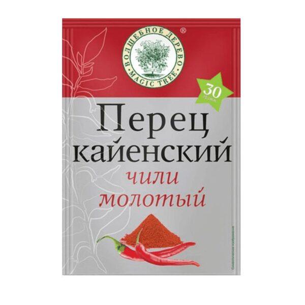 Фото 1 - ПЕРЕЦ КАЙЕНСКИЙ ЧИЛИ МОЛОТЫЙ 30ГР.