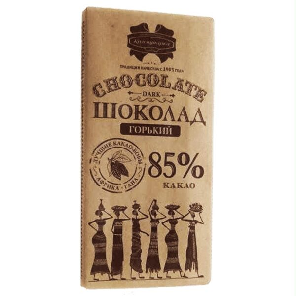 Фото 1 - ШОКОЛАД ГОРЬКИЙ КОММУНАРКА ДЕСЕРТНЫЙ 85ГР.