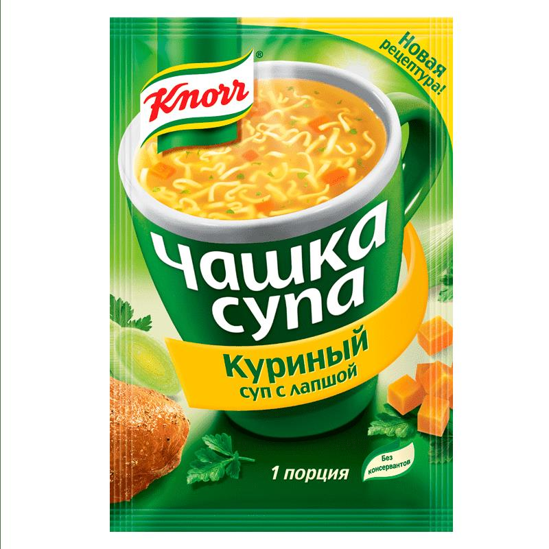 Фото 35 - ЧАШКА СУПА КНОРР КУРИНЫЙ СУП С ЛАПШОЙ 13ГР.
