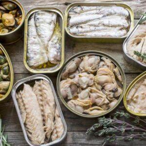 Консервы рыбные, пресервы, сушеная рыба, морепродукты